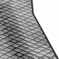 skyline (morbs06) Tags: berlin futurium richterundmusikowski abstract architecture building bw diagonal facade geometry glazing light lines museum pattern reflections repetition square stripes texture