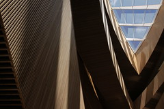Interior architecture of the New Central Library in Calgary - #36 (Jon Dev) Tags: shadows wood walls windows