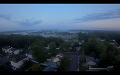 20190915_CADDX000002_lc_01 (figlio di un nocellese) Tags: screencapture screenshot sky clouds houses trees roads aerial drone caddxturtle frsky xm ev100 whoop fpv betaflight quadcopter moon cemetery morning fog dawn