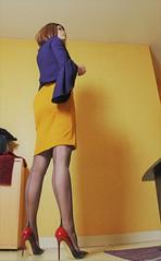 670 (Lily Blinz) Tags: crossdresser crossdressed crossdressing crossgender tgirl transvestite travesti trans trav transgender transgenre tranny tv tg ts tranvestite lily lilyblinz blinz heel stocking nylon
