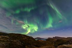 Nordlys over Lyfjorden (mirrormatch) Tags: kvaløya finnvikdalen nordlys lyfjord tromsø auroraborealis arcticlight nightsky