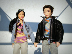 Happy Day (Deejay Bafaroy) Tags: bts jimin mattel doll puppe male homme portrait porträt outdoors draussen redressed barbie madetomove mtm dolls puppen asian stripes streifen striped gestreift sunglasses sonnenbrille