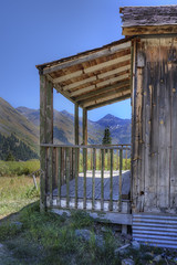 miners front porch (maryannenelson) Tags: colorado silverton animasforks mining abandoned landscape bluesky