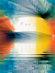 813 (MichaelTimmons) Tags: contemporaryart modernart fineart art digitalart artwork digitalpainting abstract lines curves circles blue yellow orange