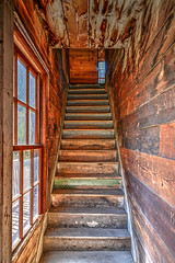 stairs animas forks (maryannenelson) Tags: colorado silverton animasforks mining abandoned landscape bluesky