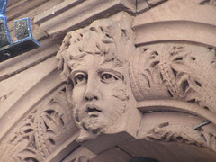 2019 Gargoyle Face above Doorway 25th St NYC 1376 (Brechtbug) Tags: above street new york city nyc portrait sculpture brown building art face monster stone architecture facade portraits faces mask manhattan spooky gargoyle midtown doorway keystone monsters gargoyles 25th creature 7th 8th brownstone between avenues 2019 09152019