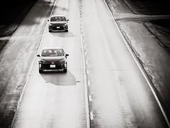 Two Cars (tek_guy) Tags: cars blackwhite highkey