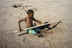 Pole (dtanist) Tags: nyc newyork newyorkcity new york city sony a7 7artisans 35mm coney island beach sand sea boy kid child pole stick