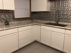 dynamic change from the old cabinets to this fresh lighted cleaner kitchen (DREADNOUGHT2003) Tags: renovation kitchen rebuild cabinets sinks