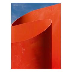 S-0028 (Florentino Luna) Tags: canong5x canon g5x g5 x phoenix az arizona phx dtphx downtown burton barr library minimal minimalism street photography 2019 simple simplistic blue orange light lines curves color minimalist sky art