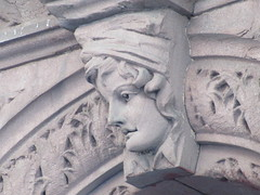 2019 Gargoyle Face above Doorway 25th St NYC 1383 (Brechtbug) Tags: 2019 gargoyle face above doorway building facade 25th street between 7th 8th avenues nyc 09152019 new york city midtown manhattan gargoyles portraits monster portrait monsters creature faces spooky art architecture sculpture keystone mask brownstone brown stone