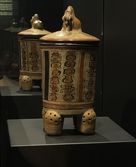 Lidded Vessel With Day Signs (Clara Johnson) Tags: royalbcmuseum mayathegreatjaguarrises‎ maya exhibit victoria bc