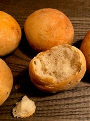 Potato, Rosemary and Roasted Garlic rolls (The Lone Baker) Tags: potato rosemary roastedgarlic bread baking breadrolls dinnerrolls round golden brown
