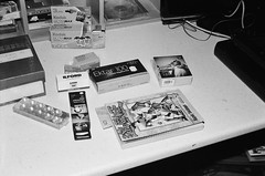 Films and manga (Matthew Paul Argall) Tags: beirettevsn manualfocus 35mmfilm blackandwhite blackandwhitefilm kentmerepan100 100isofilm film filmbox comicbook yugioh