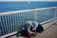 Knot (dtanist) Tags: nyc newyork newyorkcity new york city sony a7 7artisans 35mm coney island sea boardwalk steeplechase pier fishing fisherman rod pole sailboat boats