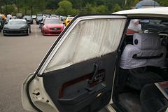 Toyota Century Window curtain (cf1703) Tags: car classic luxury white toyota elegance interior wool wood