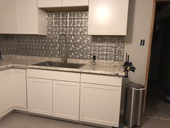 anchoring down counter... (DREADNOUGHT2003) Tags: renovation kitchen rebuild cabinets sinks