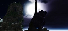 Sword Dance (Ultea) Tags: drow moon eilistraee sword song dancer half elf fantasy second life sl