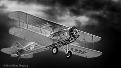 1928 Boeing Model 40C N5339 (david g schultz) Tags: 09072019 airplane d850 hoodriverflyin waam aircraft nikon nikonsigma outdoor sigma vehicle 1928boeingmodel40c n5339 bw blackandwhite monochrome clouds contrast waaam