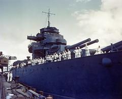WEST VIRGINIA LEAVING PEARL FOR RECONSTRUCT JOB IN WASH STATE (DREADNOUGHT2003) Tags: warships warship warproduction warinthepacific war submarines submarine battleships battleship