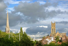 Preston skyline (Tony Worrall) Tags: spire roof rooftops preston weather clouds northern northwest north lancashire sky church ashton tower stwalburge scene scenery open location beauty ilobsterit instagram stock buy sell sale bought item forsale nice landscape serene houses building homes top overview prestonphotography skyline horizon