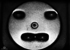 Pareidolia - MM (CamraMan.) Tags: pareidolia macromondays macromonday blackandwhite monochrome stapler scary sonya6000 tamron90mm fotodiox benro ©davidliddle ©camraman