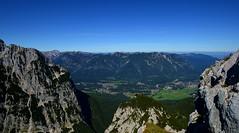Garmisch-Partenkirchen - View from the Alpspitze (cnmark) Tags: deutschland germany bayern bavaria garmischpartenkirchen grainau schmölz valley mountains tal berge landscape landschaft alps alpen blue sky blauer himmel ©allrightsreserved