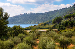 Nemi, Italy (gianlucamulone) Tags: canon 6d lake italy nemi trees water sky blu mountain green nature clouds