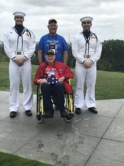 Awarding the Flag (Honor Flight Bay Area #22) (ArgyleMJH) Tags: honorflight wwii recognition usnavy ceremonialguard usairforcememorial arlington