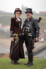 Portrait from the Whitby Steampunk Weekend VI (Gordon.A) Tags: whitby yorkshire england uk whitbysteampunkweekend wsw vi steampunk convivial festival event culture subculture style lifestyle creative costume costumes hat design man lady woman people face model pose posed posing outdoor outdoors outside naturallight colour colours color colors amateur portrait portraiture photography digital canon eos 750d sigma sigma50100mmf18dc