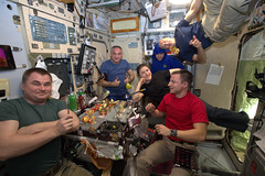 A light dinner (ESA_events) Tags: exp60 iss internationalspacestation astronauts lucaparmitano missionbeyond