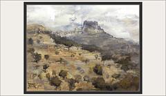 ARES DEL MAESTRE-PINTURA-MAESTRAZGO-PUEBLOS-MAESTRAT-PANORAMICAS-PAISAJES-CASTELLON-PINTURAS-ARTISTA-PINTOR-ERNEST DESCALS (Ernest Descals) Tags: aresdelmaestre maestrazgo maestrat panoramica panoramicas castellon castello paisatge paisatges montañas mountain montalos paisaje paisajes campos arboles cielo skyline sky landscaping landscape pueblo pueblos village poble pobles paint pictures españa spain pintura pinturas pintures quadres cuadro cuadros pintar carretera road pintant pintando painting paintings painter painters pintors pintor pintores art arte artwork plastica comarca comarcas comunidadvalenciana ernestdescals artistes artistas plasticos profundidad lejania panoramiques