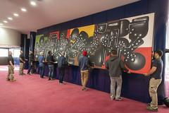 Décrochage Kijno David Trésors de Banlieues_5 (Mairie de Gennevilliers) Tags: tableau art trésors de banlieues exposition