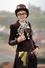 Portrait from the Whitby Steampunk Weekend VI (Gordon.A) Tags: whitby yorkshire england uk whitbysteampunkweekend wsw vi steampunk convivial festival event culture subculture style lifestyle creative costume costumes hat design lady woman people face model pose posed posing outdoor outdoors outside naturallight colour colours color colors amateur portrait portraiture photography digital canon eos 750d sigma sigma50100mmf18dc