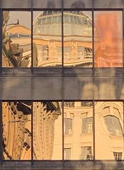 Reflections of a golden Glasgow (markshephard800) Tags: distorted distortion abstract uk scotland glasgow buildings building architecture gold golden windows reflections