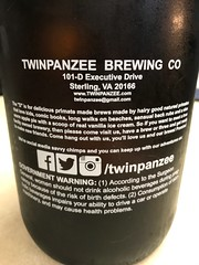 Back of Twinpanzee growler. (_BuBBy_) Tags: d is for delicious twinpanzee brewing company sterling va virginia