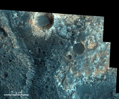 Oyama Crater, Mars (europeanspaceagency) Tags: esa europeanspaceagency space universe cosmos spacescience science spacetechnology tech technology exomars mars dunes panorama cool marte esagif sun moon earth solarsystem sol oyamacrater creativecommons roscosmos