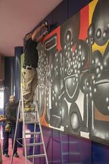 Décrochage Kijno David Trésors de Banlieues_2 (Mairie de Gennevilliers) Tags: tableau art trésors de banlieues exposition