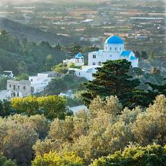 Evangelistria Church (WilliamJW46) Tags: kostravelholiday church zia greece countryside trees greenery white blue buildings leisure
