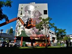 [Telmo Miel X Smug] POW! WOW! festival street art. In de Afrikaanderwijk. (José D...) Tags: rotterdam afrikaanderwijk powwowfestival streetart makingof