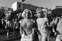 (Sooner Or Later They Come To See You) (Robbie McIntosh) Tags: leicam9p leica m9p rangefinder streetphotography 35mm leicam autaut candid strangers leicaelmarit28mmf28iii elmarit28mmf28iii elmarit 28mm pride naplespride ondapride lgbt sorrento sorrentopride blackandwhite monochrome bw