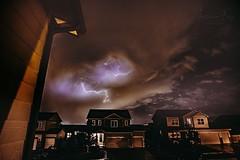 September 11, 2019 - Lightning pops at night in Thornton. (Jessica Fey)