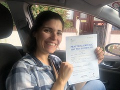 Massive congratulations  to Ana passing her driving test!!    www.leosdrivingschool.com  WARNING: Getting your license is a good achievement however being a SAFE driver for life is the biggest achievement!