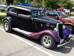 1934 Ford Tudor (splattergraphics) Tags: 1934 ford tudor hotrod customcar chopped carshow wheelsoftimerodcustomjamboree macungiepa