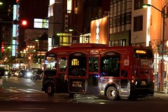 One of the cute little buses, Megurin, running around Asakusa (Abhay Parvate) Tags: asakusa 浅草 taito 台東区 めぐりん megurin streetphotography street evening night cityscape city