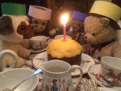 Happy Birthday Paddington 2. (raaen99) Tags: paddington paddingtonbear paddybear paddy teddy teddybear bear softtoy vintage toy vintageteddy vintageteddybear vintagetoy handmade softie plush cute cuddly soft scout scoutbear knitting knitted knittedtoy fairtrade fairtradebear scouthouse birthday birthdayparty birthdaycake cake orangecake orangecurd candle celebration happybirthday happybirthdaypaddington faerietale fairytale faerietaleteaset fairytaleteaset nurseryrhyme nurseryrhymeteaset teaset childsteaset vintageteaset shellchina chippymonkey monkey chippy paperhat pug beanniebaby pugdog party teaparty napkin silver silverspoon sterlingsilverspoon shellchinacompany shellchinateaset porcelain china pottery vintagechildsteaset antique collectable