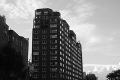 movie clouds (Zach K) Tags: clouds cloudy sky nyc new york city chelea sixth avenue ave black white bw blackwhite dramatic fuji fujifilm acros