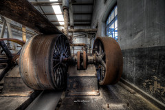 Between Flywheel and Drive (Fine ArtFoto) Tags: urbex artfoto gestern dream wwwfineartfotocom urban exploration urbexart urbandecay lost place lostplaces lostplace decay decaying discard discarded old oblivion alt abandoned forgotten vergessen verlassen derelict aufgegeben rotten verottet dampmaschine maschinenhalle steam engine hall power flywhells belts belt drive riemenantrieb antrieb riemen sonya7riii
