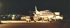 Jetcraft night Ops 1991 (Dulacca.trains) Tags: jetcraft metro mu2 archerfield brisbane queensland australia australian securityexpress metroliner civilair civil 1991 aviation aircraft airplane