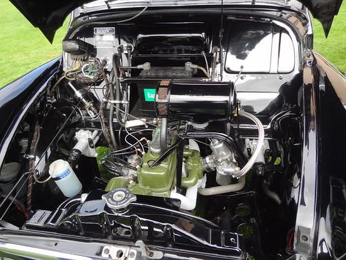 Morris Minor engine bay 2
